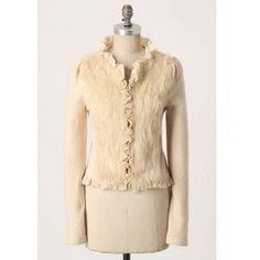 a273504acc Anthropologie Icing Age Boiled Wool + Fur Jacket Fur Jacket