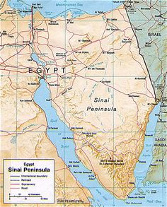 "Map of the ""Sinai Peninsula"""