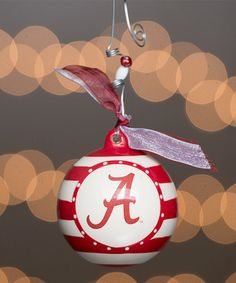 Alabama Crimson Tide Stripe Ornament