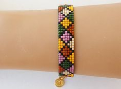 This item is unavailable Loom Bracelet Patterns, Seed Bead Patterns, Bead Loom Bracelets, Beaded Jewelry Patterns, Beading Patterns, Tear, How To Make Necklaces, Seed Bead Jewelry, Loom Beading