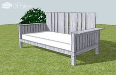 Outdoor Daybed Made From Pallets & Reclaimed Wood Pallet Sofas & Couches
