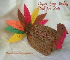 Life on Lakeshore Drive  Paper Bag Turkey for kids craft