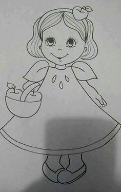 Menina maçã