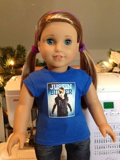 Custom Justin Bieber shirts for American Girl and by Exclusively18, $12.00