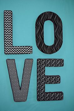 Check out this item in my Etsy shop https://www.etsy.com/listing/219741884/fabric-covered-letter-love-wall-art