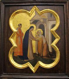 Taddeo gaddi, storie di cristo e di s. francesco (armadio di s. croce), 1335-40 ca. 03 visitazione.JPG