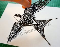 Easter Bunny Paper Cutting Template DIY Card by DreamyMarimmy