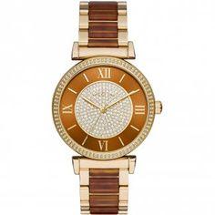 Ladies Caitlin Glitz Gold & Tortoiseshell Watch