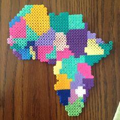 Africa perler fuse beads by perlerobsessed