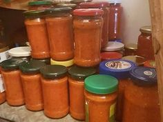 Salsa, Vitamins, Cooking Recipes, Jar, Drinks, Food, Drinking, Beverages, Chef Recipes