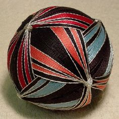 "Japanese Temari Ball       11""           ""Three Go Round"""