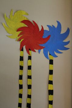 Dr Seuss Party Decor Truffula Trees 5 by twindragonflydesigns