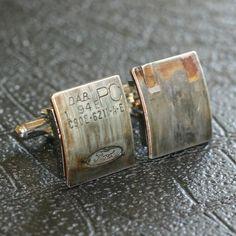 FORD Car Part CUFFLINKS - vintage - Special cufflink box included.. $95.00, via Etsy.