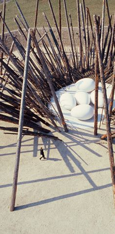 ♂ Environmental art land art NILS UDO – LAND ARTIST - egg