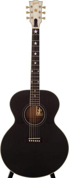 1993 Gibson J-180 EB Black Acoustic Guitar