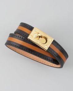 9270be9c0699 Gorjana Graham Leather Studded Wrap Bracelet on PopScreen Fendi Bracelet