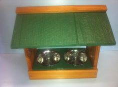 OUTDOOR PET FEEDER cat feeder cat bowls dog bowl dog by stabob, $39.00