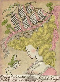 Yuko Shimizu illustrations marie antoinette