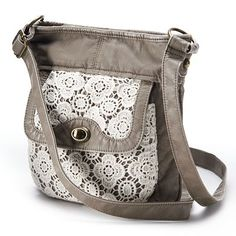 Mudd Crochet Crossbody Bag (Beige/Khaki) from Kohl's. Shop more products from Kohl's on Wanelo. Brown Crossbody Purse, Crossbody Shoulder Bag, Shoulder Handbags, Crossbody Bags, Shoulder Bags, Cute Purses, Purses And Bags, Women's Bags, Fashion Handbags
