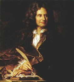 Op deze foto zie je Nicolas Boileau, de vormgever van het classicisme. Het kenmerk van het literaire classicisme is het teruggrijpen op auteurs uit de klassieke oudheid en het herinvoeren van een strikt regelsysteem in de literatuur gebaseerd op geschriften uit die tijd. Men hoopte op deze manier de klassieke literatuur niet alleen te evenaren maar deze uiteindelijk zelfs te overtreffen, iets wat beter bekendstaat als Translatio, imitatio en aemulatio.