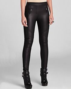 BCBGMAXAZRIA Leggings - Kalin Faux Leather Motorcycle | Bloomingdale's