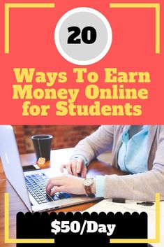 20 Ways To Earn Money Online Without Investment for Students - Finance tips, saving money, budgeting planner Ways To Earn Money, Earn Money From Home, Way To Make Money, Earn Money Online Fast, Real Online Jobs, Make 100 A Day, Budget Planer, Online Earning, Extra Money
