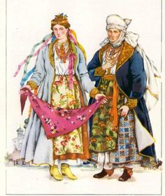 Outfit of the Central Kyiv region(rich people), Ukraine, from Iryna