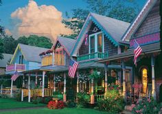 """Martha's Vineyard is home to this cluster of what is known as """"the gingerbread houses"""""""