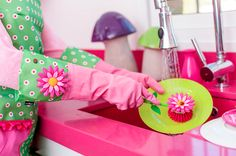 How can you make cleaning your home more exciting? Use flower power ;-)