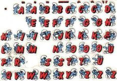 Smurf stickers