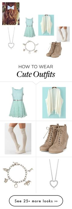 """""""Caroline Matthews Outfit #2"""" by amazingness-of-fashion on Polyvore featuring Glamorous, Daytrip and Tiffany & Co."""