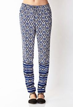 Perfectly Posh Scarf Print Pants | FOREVER21 - 2034859798