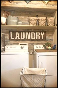 Small rustic laundry room ideas - small laundry room ideas in country rustic decor #diyrusticdecor #rustichouse