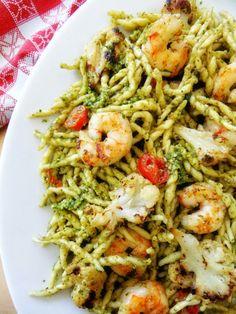 Trofie Pasta with Pesto and Shrimp