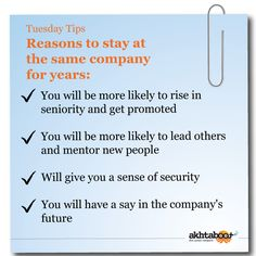 Those who change jobs frequently may be perceived as employees who lack loyalty to their employers which can carry over when searching for new job opportunities. While job-hopping can speed up career development for some people, it can also cost many the job of their dreams. Akhtaboot presents you with some important reasons of why you should stay with one company for a decent amount of time.