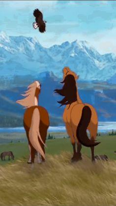 Spirit Horse Movie, Spirit The Horse, Spirit And Rain, Horse Drawings, Cute Drawings, Caballo Spirit, Disney Horses, Wallpaper Background Design, Horse Movies