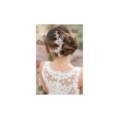 HAIRSTYLES for VINTAGE WEDDING DRESSES, Part 3 1970s, and short hair. ❤ liked on Polyvore featuring dresses and wedding dresses