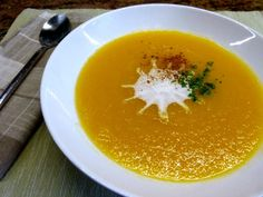 Celeriac, Carrot and Apple Soup. Paleo, AIP and Vegan, it's Soothing, Surprising and Satisfying. You'll be wanting to do as we do - make a huge pot, and eat it for breakfast, with a dollop of coconut cream kefir.