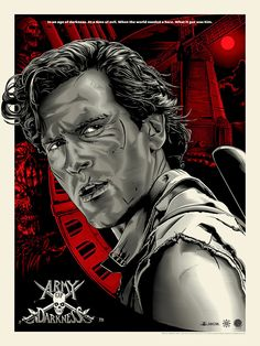 Army of Darkness Red Regular Screenprint Poster Skuzzles Bruce Campbell Evil Dead Movies, Scary Movies, Great Movies, Best Movie Posters, Movie Poster Art, Film Posters, Breaking Bad, Bruce Campbell Evil Dead, Ash Evil Dead