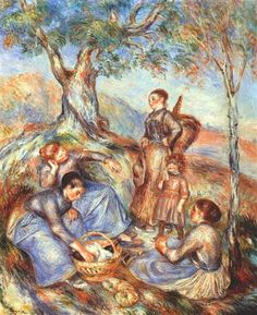 The grape pickers at lunch - Pierre-Auguste Renoir