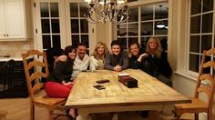 Jay's 60th birthday March 2, 2015. At D & D's house with D&D, Jay& Karen, and Jimmy & Michelle.