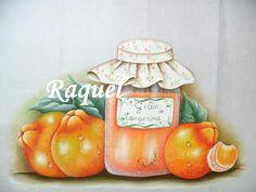 Raquel pintando: Geléia de tangerina