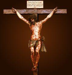 Jesús Crucificat en base a l'home del Sant Sudari.