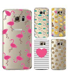 Flamingo capa de silicone para o iphone 7 plus 5S couqe 5c se 6 6 s cobertura para samsung galaxy grand prime j3 j5 a3 a5 2016 s5 s6 s7 borda