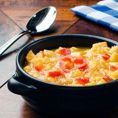 Kitchen Riffs: Peach and Chipotle Gazpacho