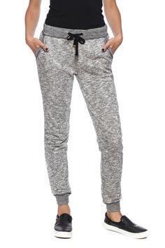Jogger pants with drawstring waistband and side pockets.    Heathered Jogger Pant by Z Supply. Clothing - Bottoms - Pants & Leggings - Joggers Clothing - Bottoms Illinois