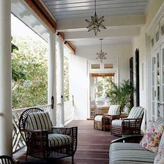 Restful country porch