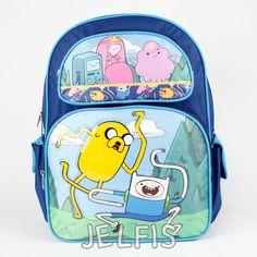 "Jelfis.com - Adventure Time Largte 16"" Blue Backpack Finn Jake Princesses Cartoon Network, $17.99 (http://www.jelfis.com/adventure-time-largte-16-blue-backpack-finn-jake-princesses-cartoon-network/)"