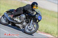 Cafe-Racer-Classique Moto Guzzi, Chicane Nord, Circuit Montlhery