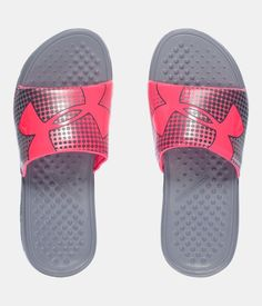 girls under armour slides